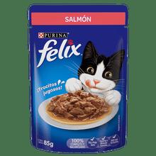 Comida Humeda Gatos Felix Salmon Pouch 85G