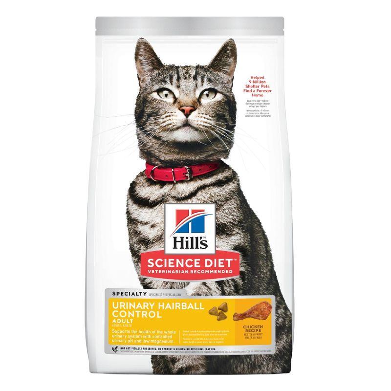 Comida-Para-Gatos-Hills-Adult-Urinary---Hairball-Control-3.5-Lb