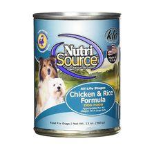 Comida Para Perros Nutrisource Chicken & Rice Formula Dog (Latas) Peso 13 Oz