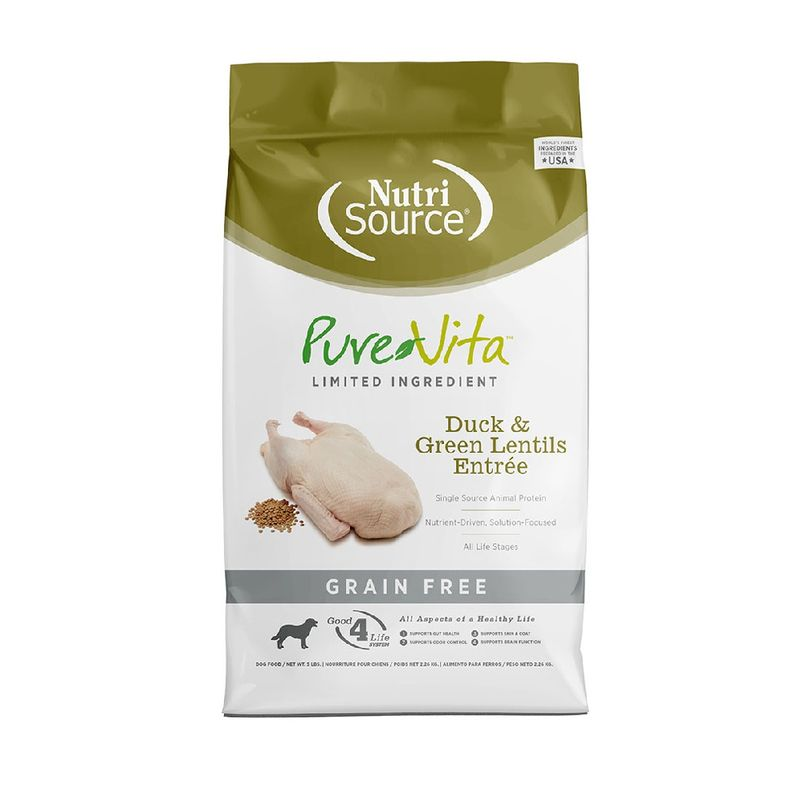 Comida-Para-Perros-Nutrisource-Purevita-Grain-Free-Duck---Green-Lentils-15-Lb
