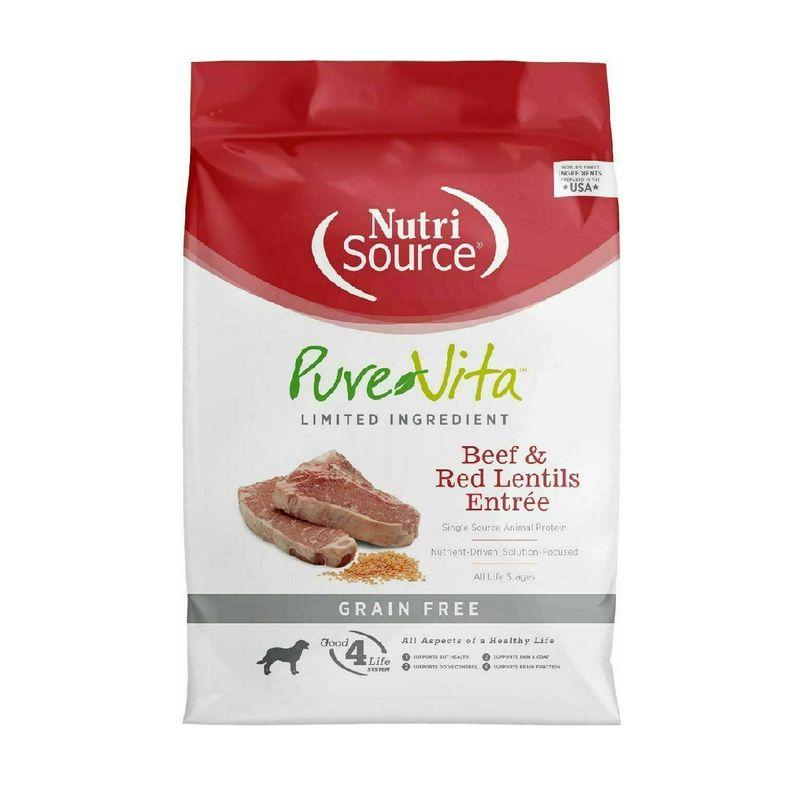 Comida-Para-Perros-Nutrisource-Purevita-Grain-Free-Beef---Red-Lentils-15-Lb