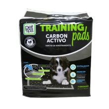 Tapete Para Perros Trainning Pads Carbon Activo 7 Unidades